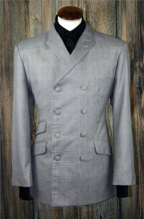 """Goodman"" 8  Button Double Breasted Pow Check Suit"